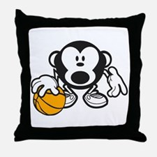Basketball Monkey Throw Pillow