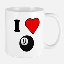 I Heart Eight Ball Mugs