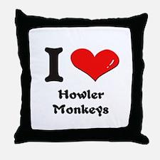I love howler monkeys  Throw Pillow