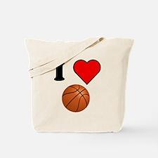 I Heart Basketball Tote Bag