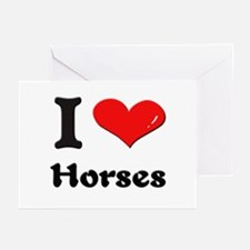 I love horses  Greeting Cards (Pk of 10)