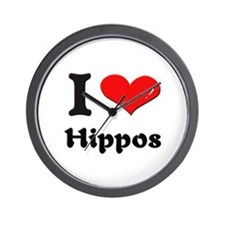 I love hippos  Wall Clock