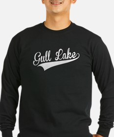 Gull Lake, Retro, Long Sleeve T-Shirt