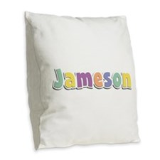 Jameson Spring14 Burlap Throw Pillow