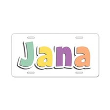 Jana Spring14 Aluminum License Plate