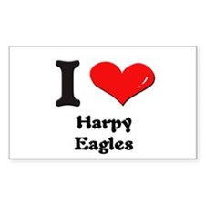 I love harpy eagles Rectangle Decal