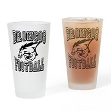 Broncos Football Drinking Glass