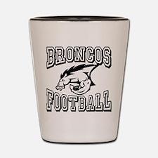 Broncos Football Shot Glass