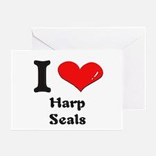 I love harp seals  Greeting Cards (Pk of 10)