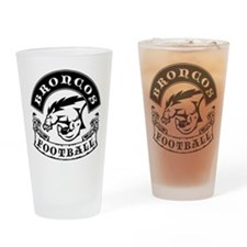 Broncos Football Drinking Glass