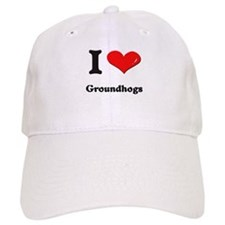 I love groundhogs Baseball Cap
