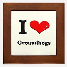 I love groundhogs  Framed Tile