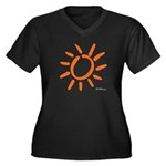 HotStation Women's Plus Size V-Neck Dark T-Shirt