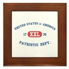 USA 1776 Patriotic Framed Tile