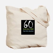 Funny Earth hour Tote Bag