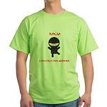 Ninja Construction Worker Green T-Shirt