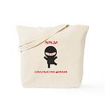 Ninja Construction Worker Tote Bag