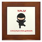 Ninja Construction Worker Framed Tile