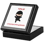 Ninja Construction Worker Keepsake Box