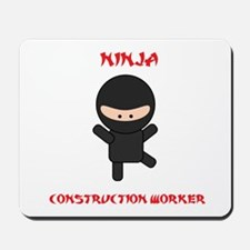 Ninja Construction Worker Mousepad