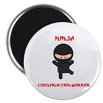 Ninja Construction Worker Magnet