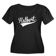 Halbert, Retro, Plus Size T-Shirt