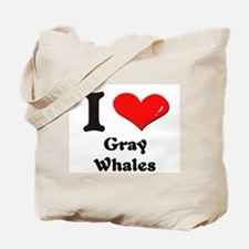 I love gray whales Tote Bag