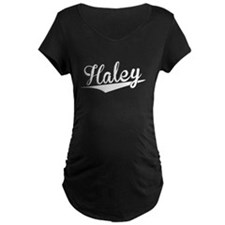 Haley, Retro, Maternity T-Shirt