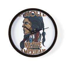 proud native american 3 Wall Clock