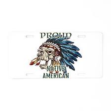 proud native american 5 Aluminum License Plate