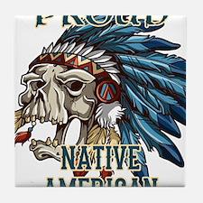 proud native american 5 Tile Coaster