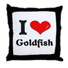 I love goldfish  Throw Pillow