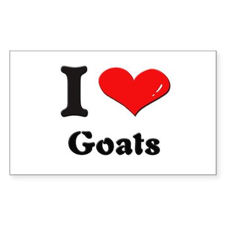I love goats Rectangle Sticker