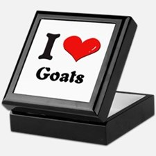 I love goats Keepsake Box