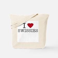I heart Swissies Tote Bag