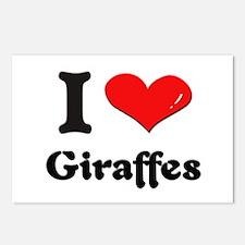 I love giraffes  Postcards (Package of 8)