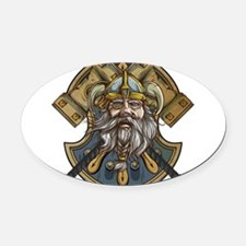 viking3 Oval Car Magnet
