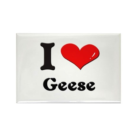 I love geese Rectangle Magnet