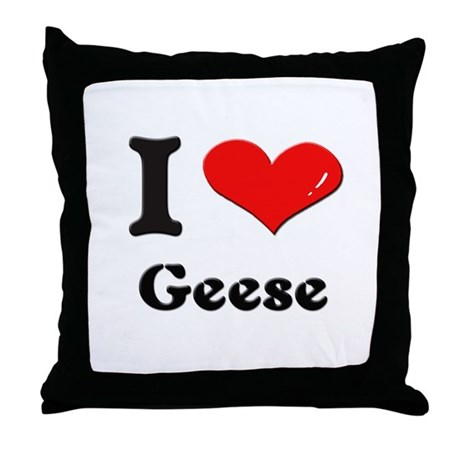 I love geese Throw Pillow
