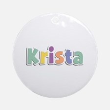 Krista Spring14 Round Ornament