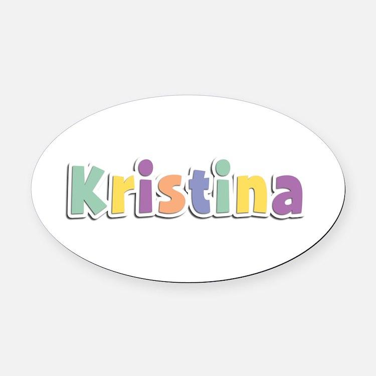 Kristina Spring14 Oval Car Magnet