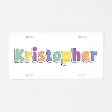 Kristopher Spring14 Aluminum License Plate
