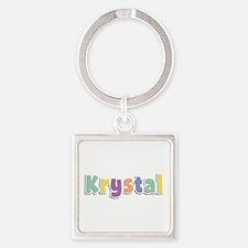 Krystal Spring14 Square Keychain