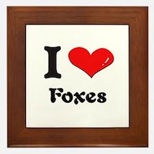 I love foxes  Framed Tile