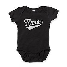 Hare, Retro, Baby Bodysuit