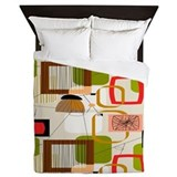 Mid century inspired Luxe Full/Queen Duvet Cover
