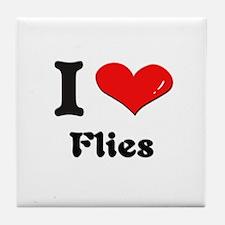 I love flies  Tile Coaster