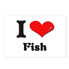 I love fish  Postcards (Package of 8)