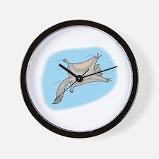 Funny Flying Squirrel Wall Clock