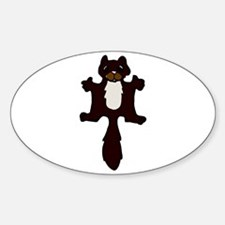 Cute Flying Squirrel Oval Decal